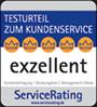 CHECK24: Testnote 'exzellent' von ServiceRating